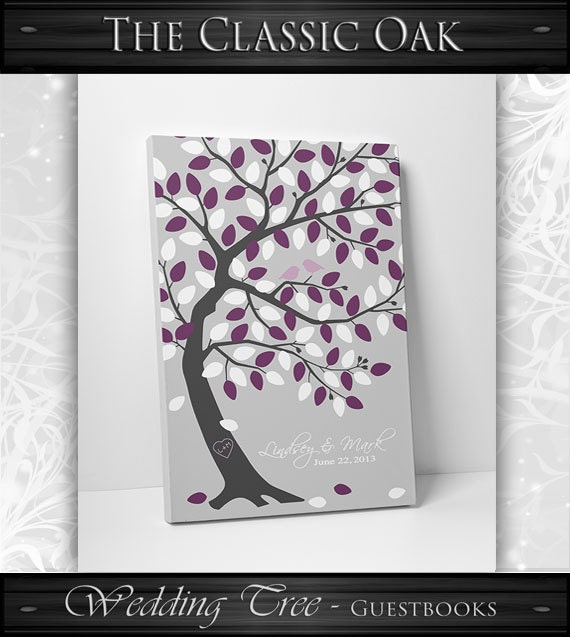 Wedding Tree Guest Book // Wedding Guest Book Tree // Personalized Wedding Print // Canvas or Matte Print 100-150 Guests // 16x20 Inches