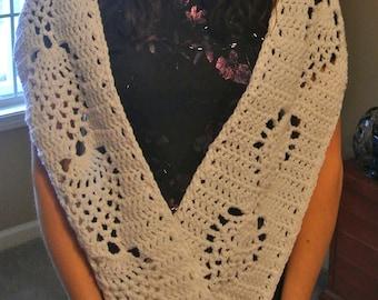 Angel wing crochet prayer shawl