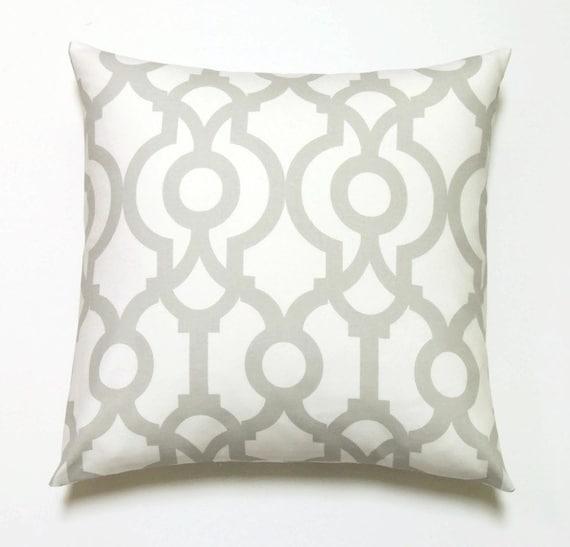 Gray Pillows, 20x20 Pillow Cover, Decorative Pillow, Geometric Pillow, Modern Pillow Covers, Lyon French Gray