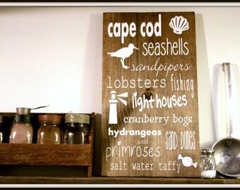 Cape Cod Word Art Wall Hanging