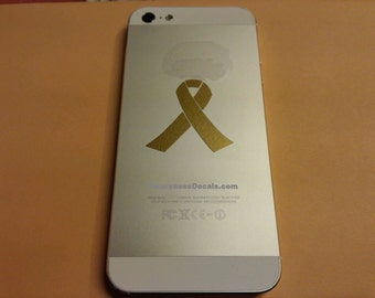 16 Small Cancer Awareness Ribbon Decals, Half of all proceeds go to Childhood Cancer Research
