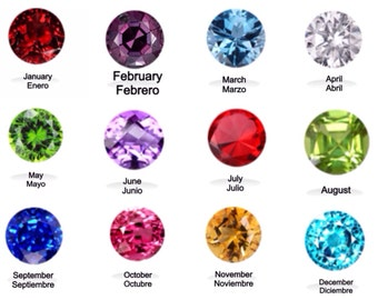Birthstone Crystal for Glass Locket 4.5 mm