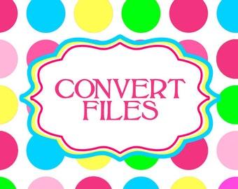 change png file to pdf