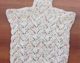 Hand Knit Beach/Grocery/Shopping/Market Bag 100% Cotton