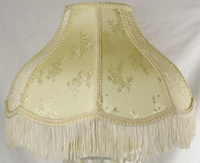 vintage victorian style lamp shade with fringe by udderlygoodstuff. Black Bedroom Furniture Sets. Home Design Ideas