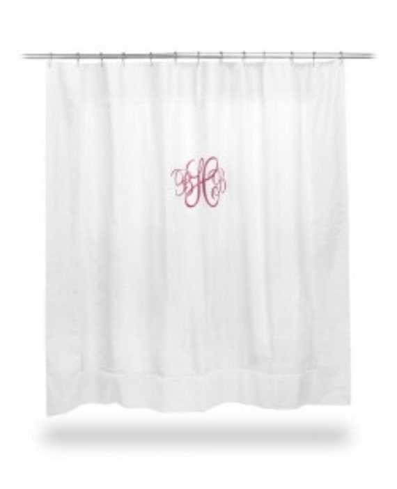 monogrammed shower curtain by sewaddicted204 on etsy