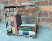 Vintage Metal Milk Crate