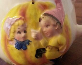 Vintage ENESCO Nursery Rhyme MUG CUP Peter Peter Pumpkin Eater