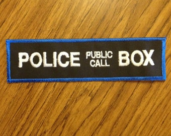 8in. Police Box patch