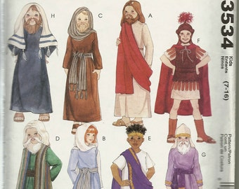 "McCalls 3534  Boys and Girls  "" Passion Play Costumes ""   Size 7-16  uncut"