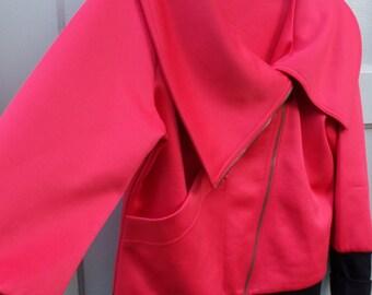 Boy George 1980s MOtorcycle Pink Jacket
