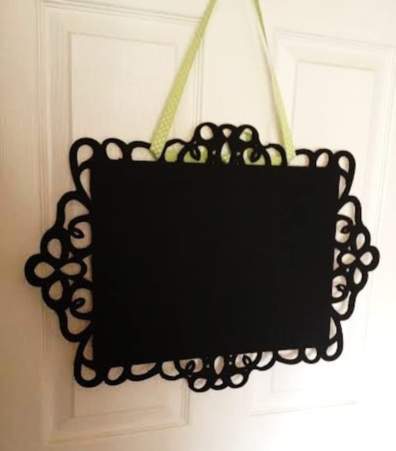 Decorative Chalkboards For Home: Items Similar To Decorative Hanging Chalkboard. The