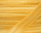 Yellow Gold Fold Over Elastic - Elastic For Baby Headbands and Hair Ties - 5 Yards of 5/8 inch FOE