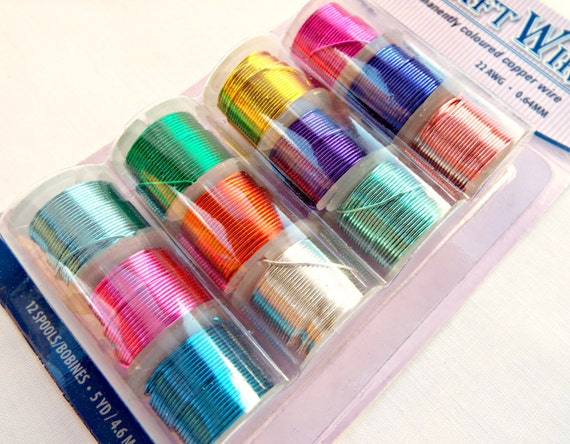 22 gauge wire 12 spools copper wire colored copper wire for 22 gauge craft wire