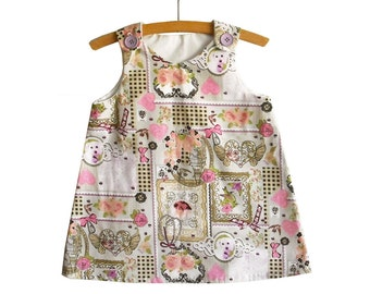 A Line  Dress Pattern with Tutorial/Toddler dress pattern/Girl's Dress Pattern//Childrens Sewing Pattern. Easy Sew Size 2T, 3T/4T
