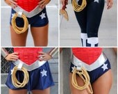 Wonder Woman Briefs Shorts Skirt Pants NAVY with white stars