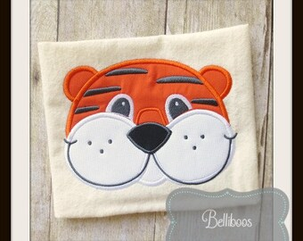 Tiger Applique Design - Tiger Embroidery Design - Mascot Applique Design - Animal Applique Design - Zoo Applique Design - Applique Design