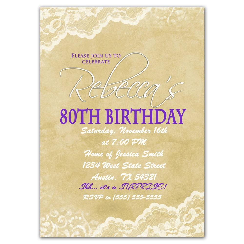 invitation for 80th birthday party - Etame.mibawa.co