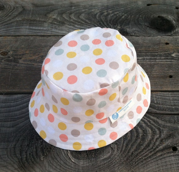 Spring Polka Dot Reversible Bucket Hat