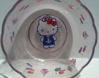 Hello Kitty Pastic Bowl - Sanrio Co. Ltd. 1976 - Made in Japan