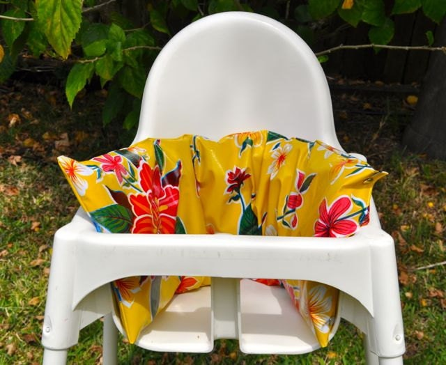cover for ikea high chair cushion barnslig flower by kforkids
