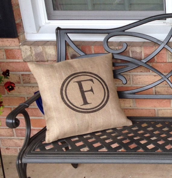 Silhouette idea, curb appeal, home, burlap, pillowcase, initial