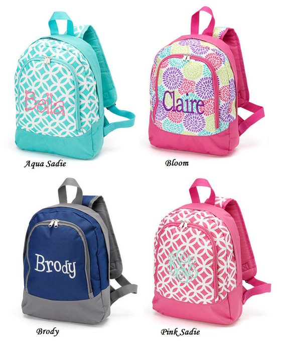 Personalized preschool/ Kindergarten backpacks for girls and