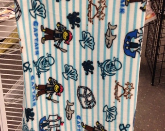 Pirate blanket 49 x 29 1/2 handmade so adorable