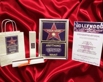 PERSONALISED HOLLYWOOD STAR gift set!