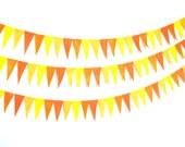 Bunting Yellow Orange Harvest Gold Fall Pendant Garland Felt Eco-Friendly 6ft Children Room Birthday Party Wedding