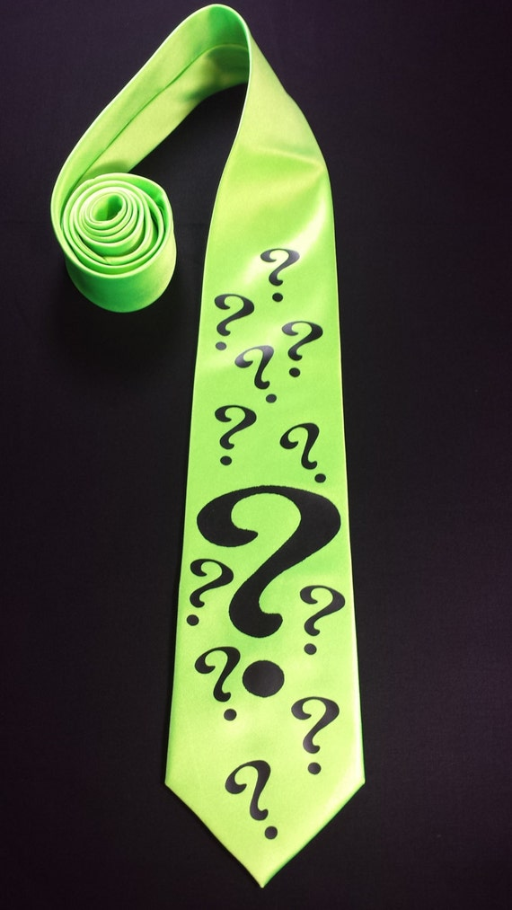 the riddler mens necktie by pandorasproductions on etsy