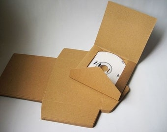 20pcs - Kraft paper CD DVD Envelope Sleeve (fold) *PS007*
