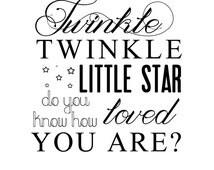 "INSTANT DOWNLOAD Newborn Baby Word Art Overlay ""Twinkle Twinkle"""
