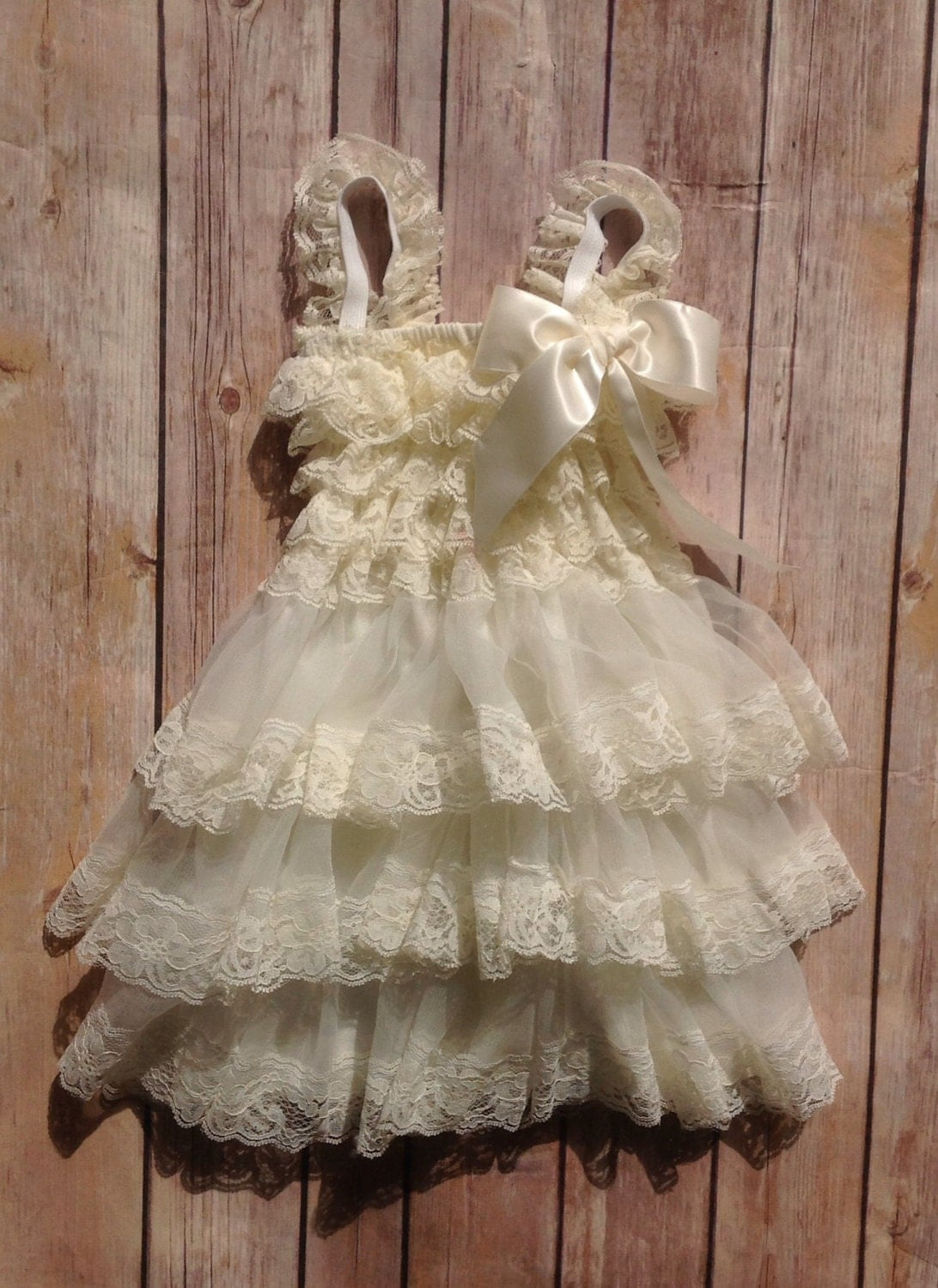 Cream Lace Toddler Baby Girl Dress Cream by AvaMadisonBoutique