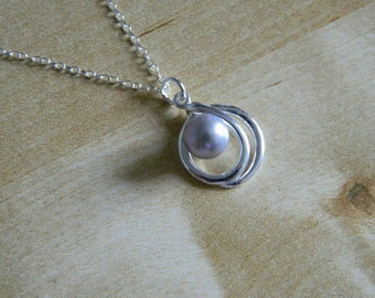 Pearl Twist Necklace, Sterling Silver