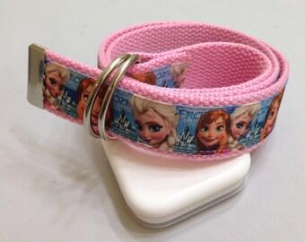 Frozen Girls Belt - Girls Belt - Frozen Belt - D Rings Belt - Webbing Belt -Children Belt - Kids Belt - Toddler Belt