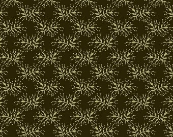 Romantic Renaissance - Brown Sprig - 1/2yd
