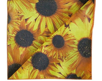 Decorative Cotton Tablecloth in Sunflower Print