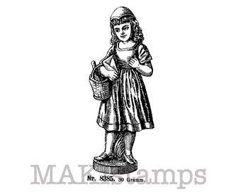 Fairy tale rubber stamp / Little Red Ridinghood / Unmounted rubber stamp (140309)