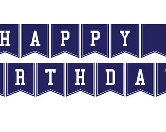 Baseball Party Instant Download Happy Birthday Banner
