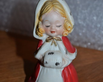Vintage Bisque Porcelain Holiday Bell 1980, MWC