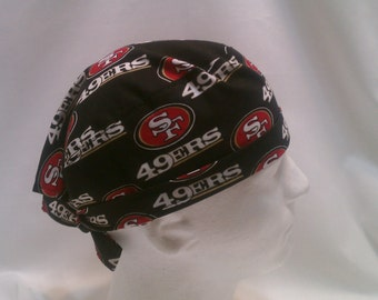 San Francisco 49ers NFL Tie Back Surgical Scrub Hat