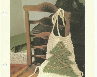 Christmas Tree Apron crochet pattern digital download