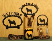 Shiba Inu Welcome Sign, Time for A Walk Leash Hook, Key Rack, Candle Holder for Yankee Type Jar Candles