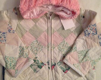 J1   handmade size 2-3 girls quilted jacket