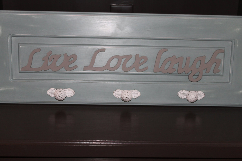 Wall decor atouchofanangeldecor wall decor wooden key hook sign live love laugh amipublicfo Gallery