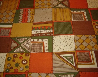 2 yards for 3.99, fall colors and patch work design