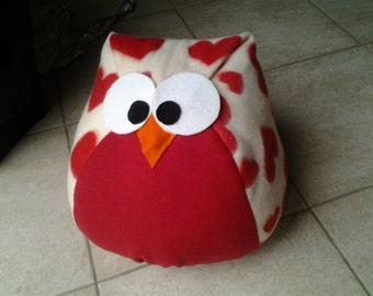 Owl Pillow, very cute, 100% hand made, made in italy