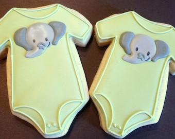 Baby Onesie Cookies - 1 Dozen