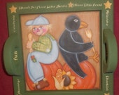 PATTERN, Napkin Press, Fall, Scarecrow, Crow, Pumpkin, Acrylic, FAAP, OFG, Whimsical, Autumn, Painting Pattern, Fall Pattern,